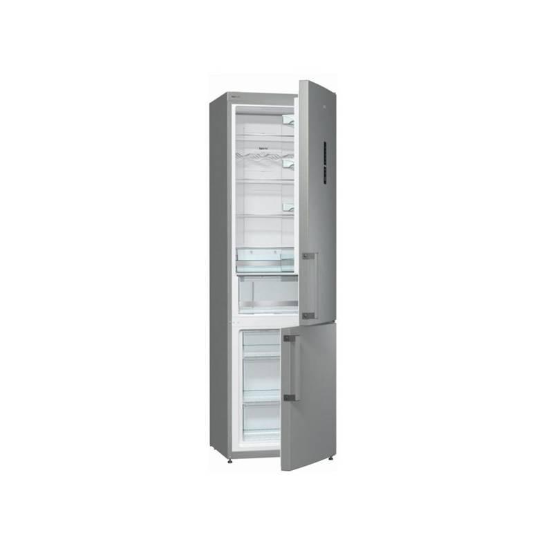 Chladnička s mrazničkou Gorenje NRK6202MX šedá/nerez