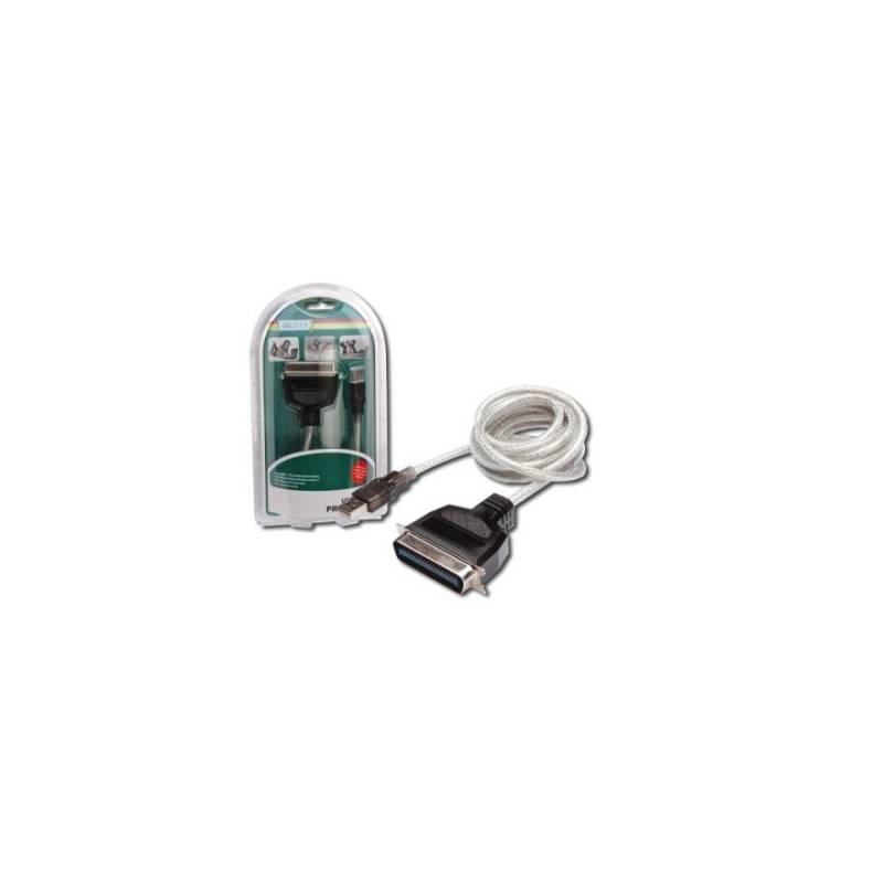 Kábel Digitus USB / LPT (Tiskárna), 1,8m (DC USB-PM1) biely