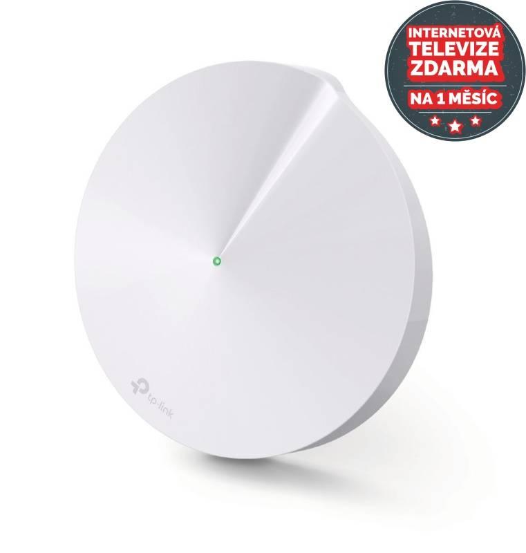 Router TP-Link Deco M5 AC1300 + IP TV na 1 měsíc ZDARMA (Deco M5(1-pack)) biely