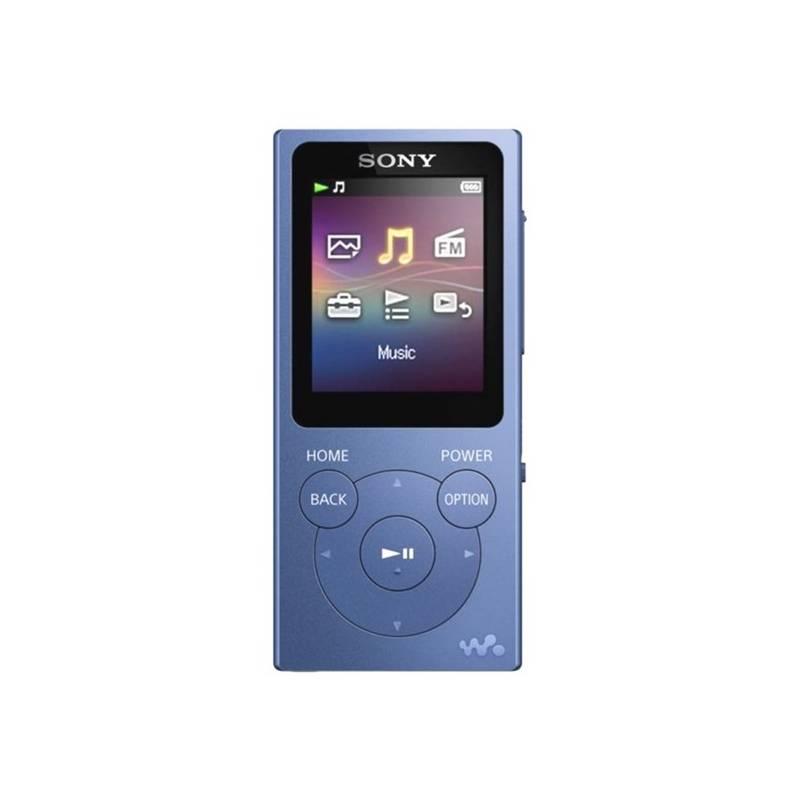 MP3 prehrávač Sony NWE393 modrý