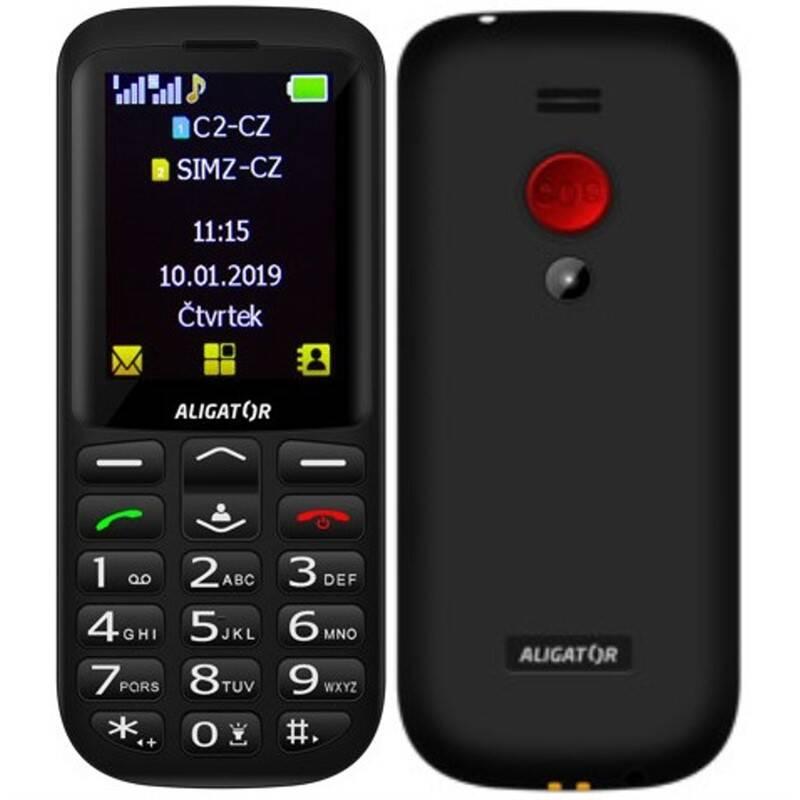 Mobilný telefón Aligator A700 Senior Dual SIM (A700B) čierny