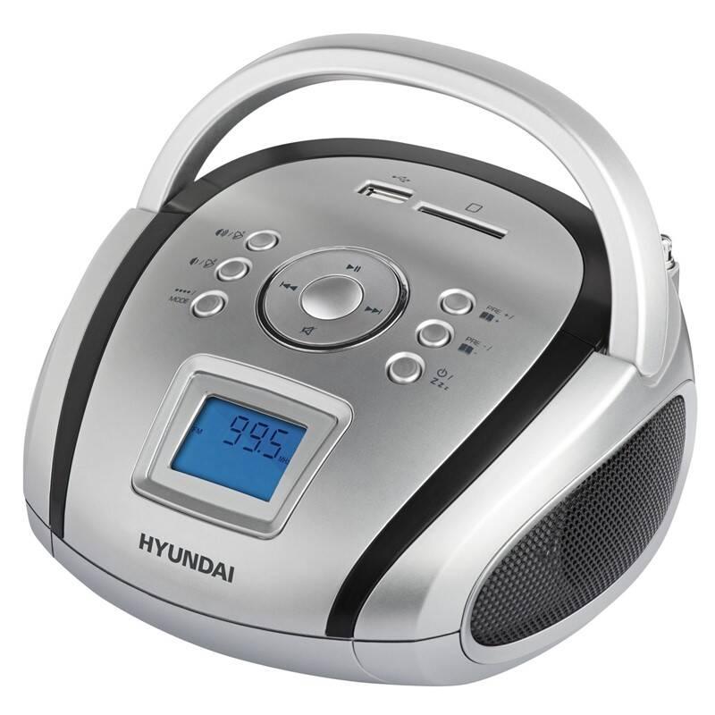Rádioprijímač Hyundai TR 1088 SU3SB čierny/strieborný