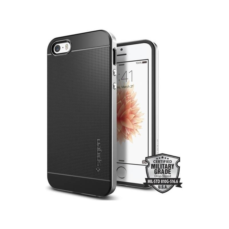Kryt na mobil Spigen Neo Hybrid Apple iPhone 5/5s/SE (041CS20185) strieborný