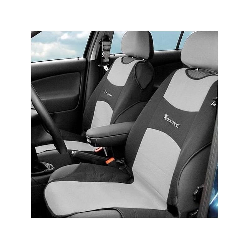 Poťah sedadiel Compass TRIKO přední 2 ks šedý