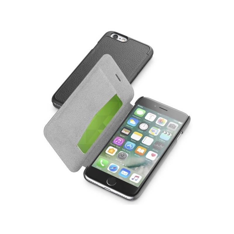 Puzdro na mobil flipové CellularLine Book Essential pro Apple iPhone 8/7 (BOOKESSIPH747K) čierne