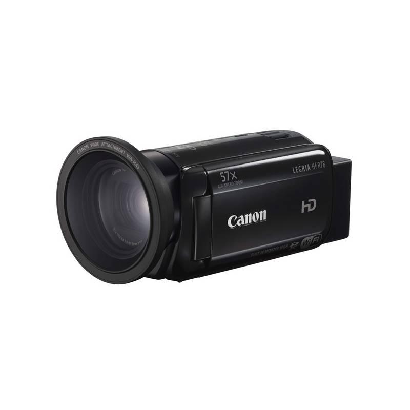 Videokamera Canon LEGRIA HF R78 + širokoúhlá předsádka čierna + Doprava zadarmo