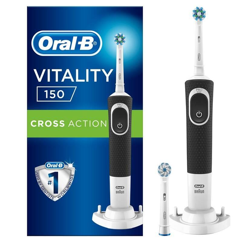 Zubná kefka Oral-B Vitality 100 Black Cross Action + 1 Sensi hlavice