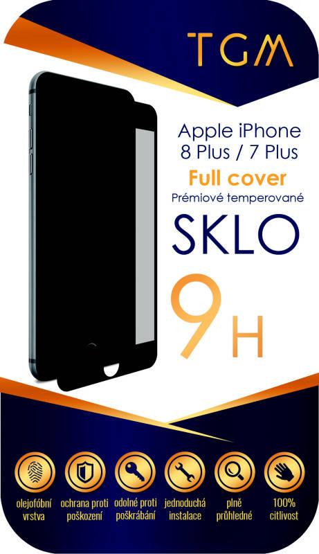 Ochranné sklo TGM Full Cover pro Apple iPhone 7+/8+ (TGMAPIP7P8PBL) černé