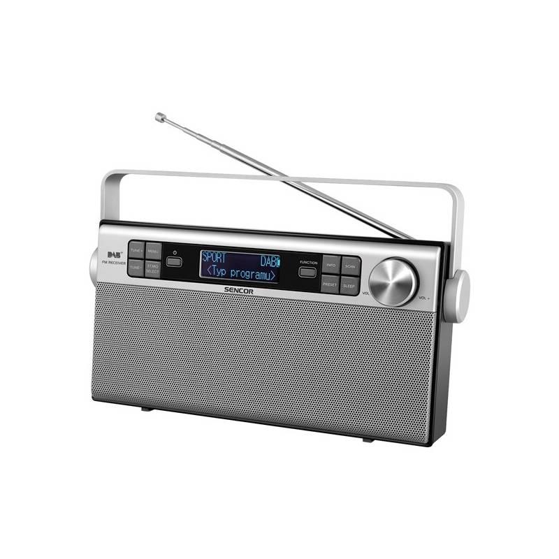 Radiopřijímač s DAB Sencor SRD 6600 DAB+ DAB / FM RÁDIO (35048617) stříbrný