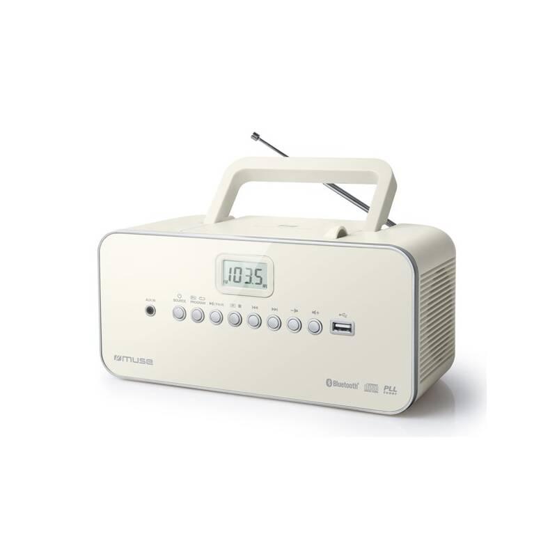 Radiopřijímač s CD MUSE M-30BTN béžový