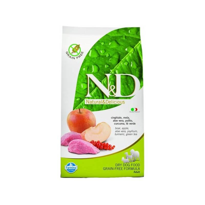 Granule N&D Grain Free DOG Adult Boar & Apple 12 kg Antiparazitní obojek Scalibor Protectorband pro psy - 48 cm