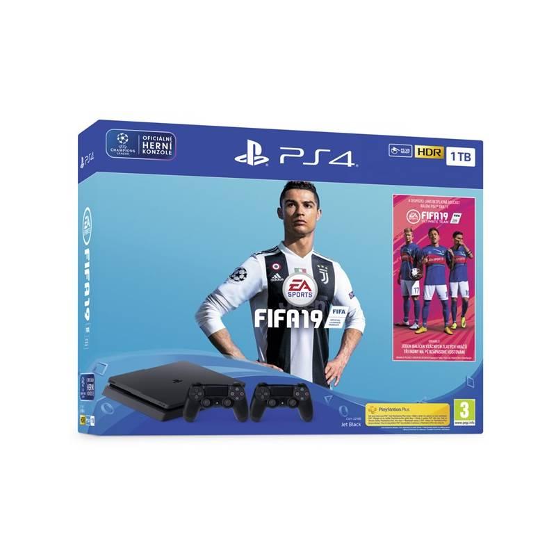 Herná konzola Sony PlayStation 4 SLIM 1TB + FIFA19 + DualShock 4 (PS719752110) čierny + Doprava zadarmo