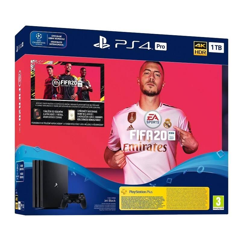 Herná konzola Sony PlayStation 4 Pro 1 TB + FIFA 20 (PS719982302) + Doprava zadarmo