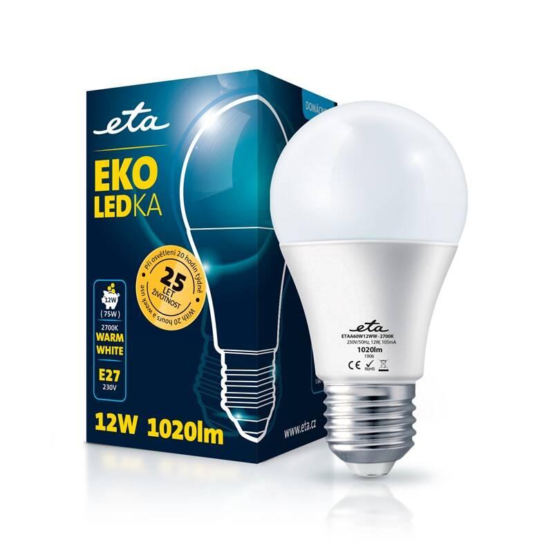 LED žiarovka ETA EKO LEDka klasik 12W, E27, teplá bílá (A60W12WW)