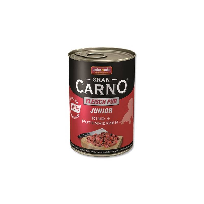 Konzerva Animonda Junior Gran Carno hovězí + krůtí srdce 400g