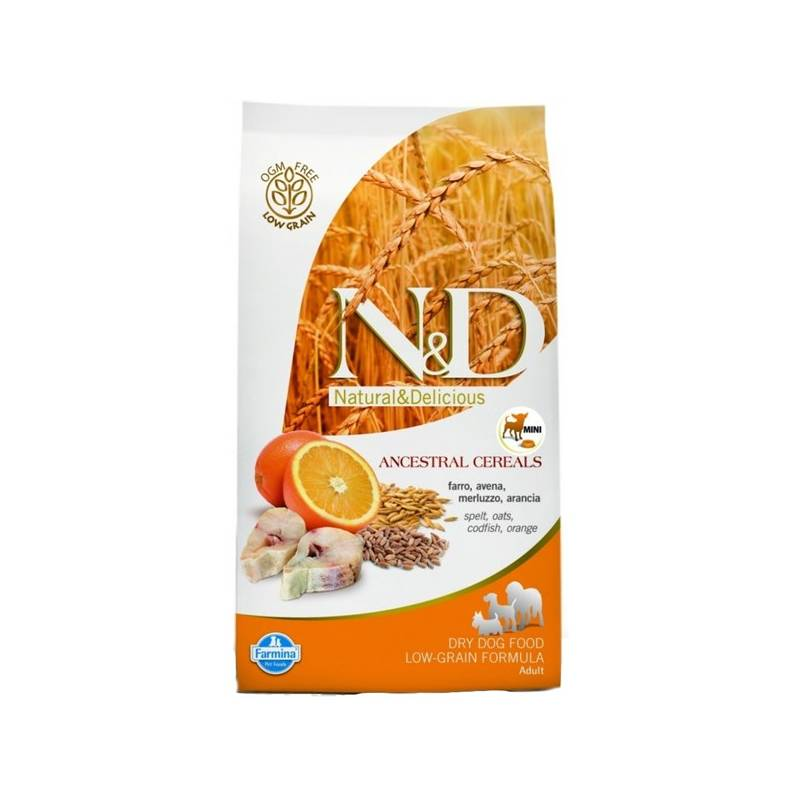 Granule N&D Low Grain DOG Adult Mini Codfish & Orange 7 kg Antiparazitní obojek Scalibor Protectorband pro psy - 48 cm