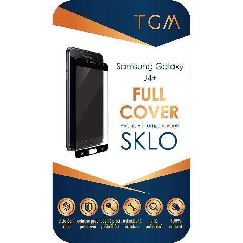 Ochranné sklo TGM Full Cover pro Samsung Galaxy J4+ (TGMSMJ4PBK) čierne