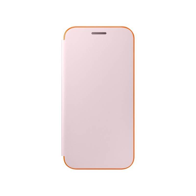 Puzdro na mobil flipové Samsung Neon Flip pro Galaxy A3 2017 (EF-FA320P) (EF-FA320PPEGWW) ružové