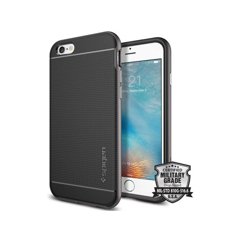 Kryt na mobil Spigen Neo Hybrid pro Apple iPhone 6/6s - gunmetal (SGP11618) + Doprava zadarmo