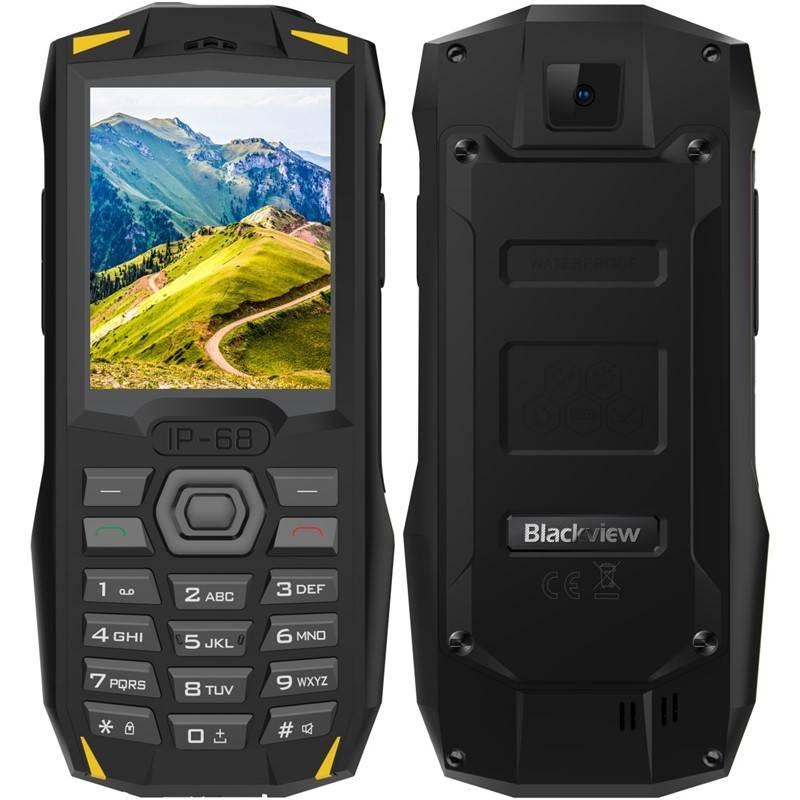 Mobilný telefón iGET BLACKVIEW GBV1000 Dual SIM (84000439) čierny/žltý