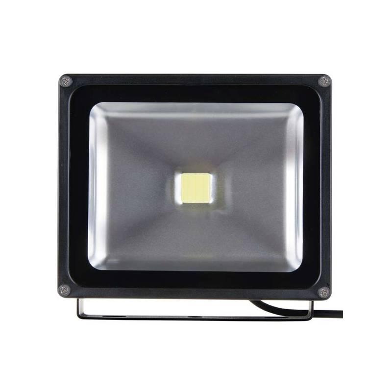 LED reflektor EMOS HOBBY 30W, studená bílá, 2000lm (1531221030) čierny