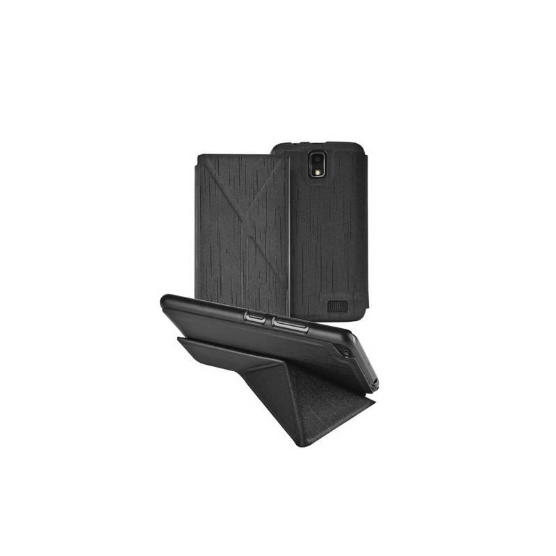 Pouzdro na mobil flipové GoGEN pro Lenovo A328 (GOGCASEA328B) černé
