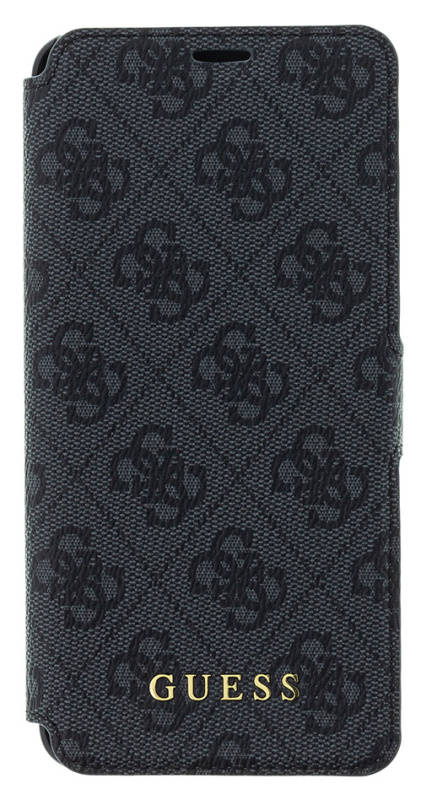 Puzdro na mobil flipové Guess 4G Book Case pro Samsung Galaxy S9 (GUFLBKS94GG) sivé
