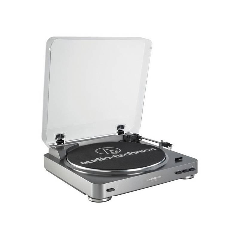 Gramofón Audio-technica AT-LP60-USB strieborný