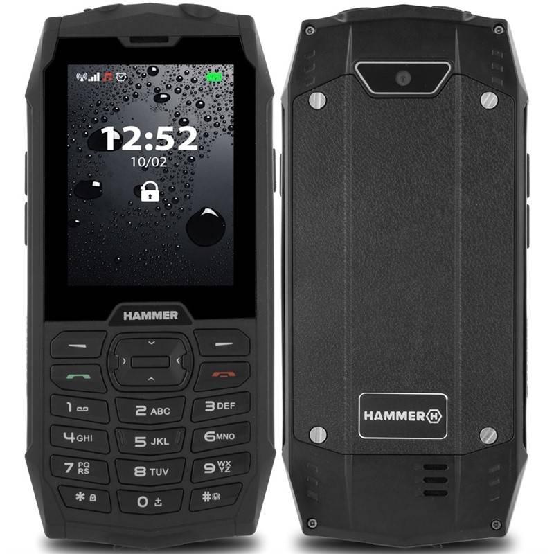 Mobilní telefon myPhone Hammer 4 Dual SIM (TELMYHHA4BK) černý
