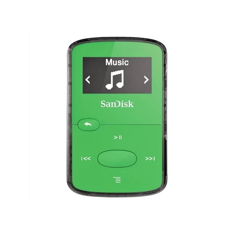 MP3 prehrávač Sandisk Sansa Clip JAM 8 GB (DMX26-008G-G46G) zelený