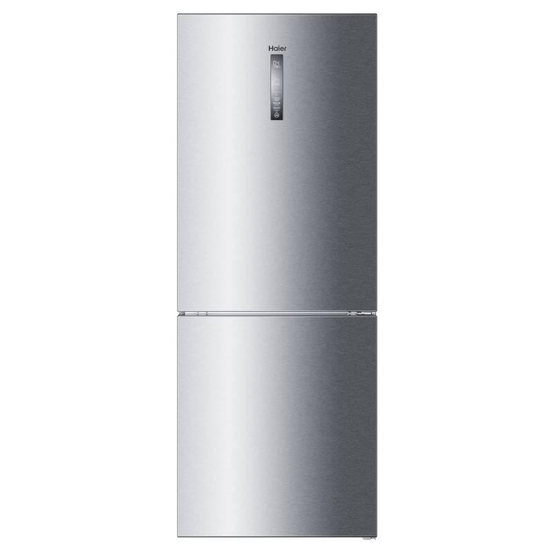 Kombinácia chladničky s mrazničkou Haier C3FE844CGJ Titanium + Doprava zadarmo