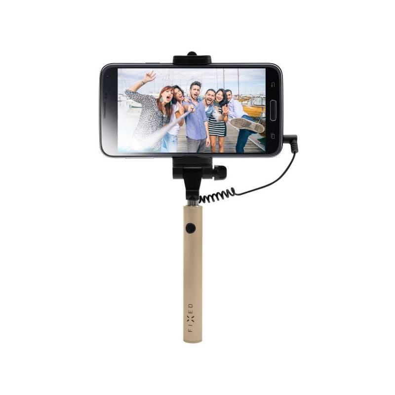 Selfie tyč FIXED Snap Mini - zlatá (FIXSS-SNM-GD) zlatá