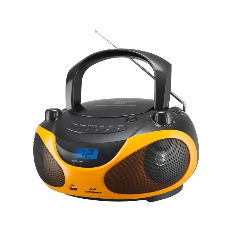Rádioprijímač s CD Sencor SPT 228 BO čierny/oranžový