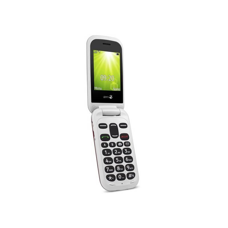 Mobilný telefón Doro 2404 Dual SIM (7367) biely/červený
