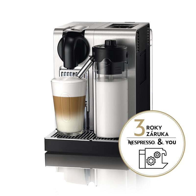 Espresso DeLonghi Nespresso Lattissima EN750MB stříbrné