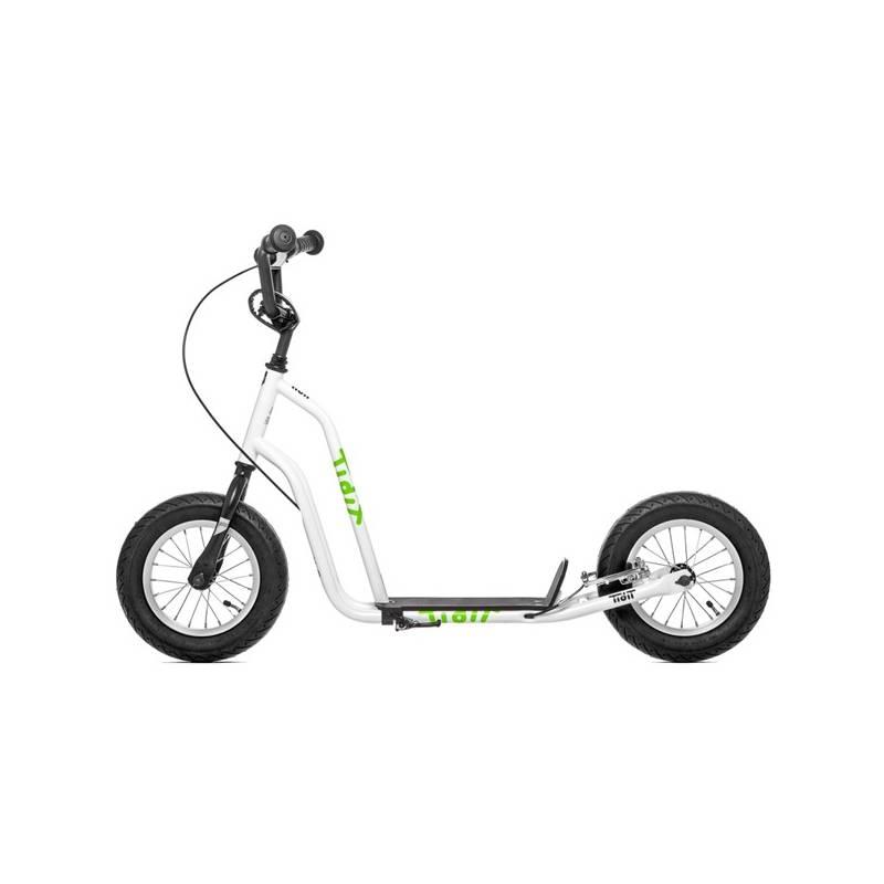 """Kolobežka Yedoo Basic Tidit 12"""" biela + Reflexní sada 2 SportTeam (pásek, přívěsek, samolepky) - zelené v hodnote 2.80 € + Doprava zadarmo"""
