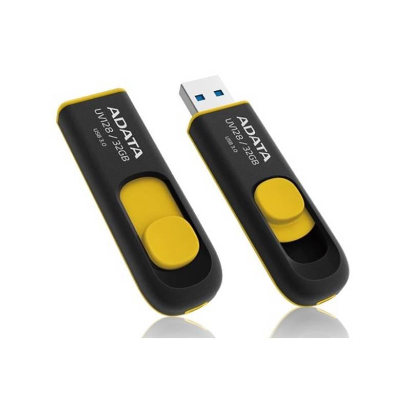 USB flash disk ADATA UV128 32GB (AUV128-32G-RBY) čierny/žltý + Doprava zadarmo