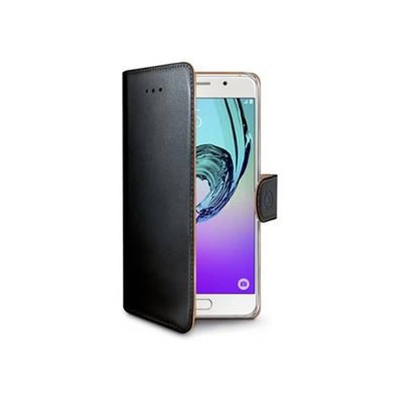 Puzdro na mobil flipové Celly Wally pro Samsung Galaxy A3 (2016) (WALLY534) čierne