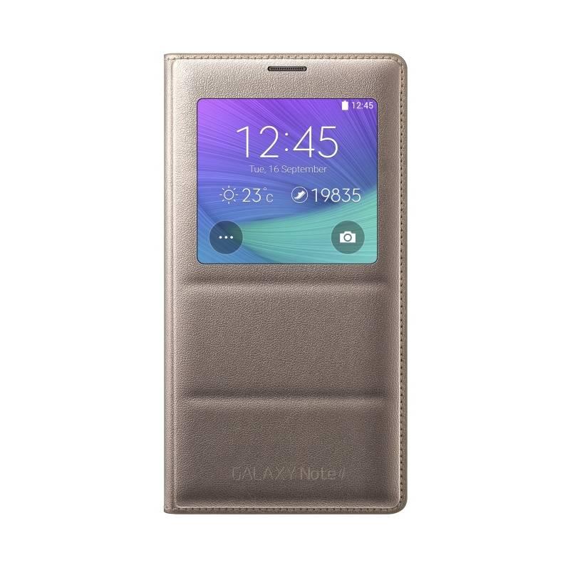 Puzdro na mobil flipové Samsung S-view pro Galaxy Note 4 (EF-CN910BEEGWW)
