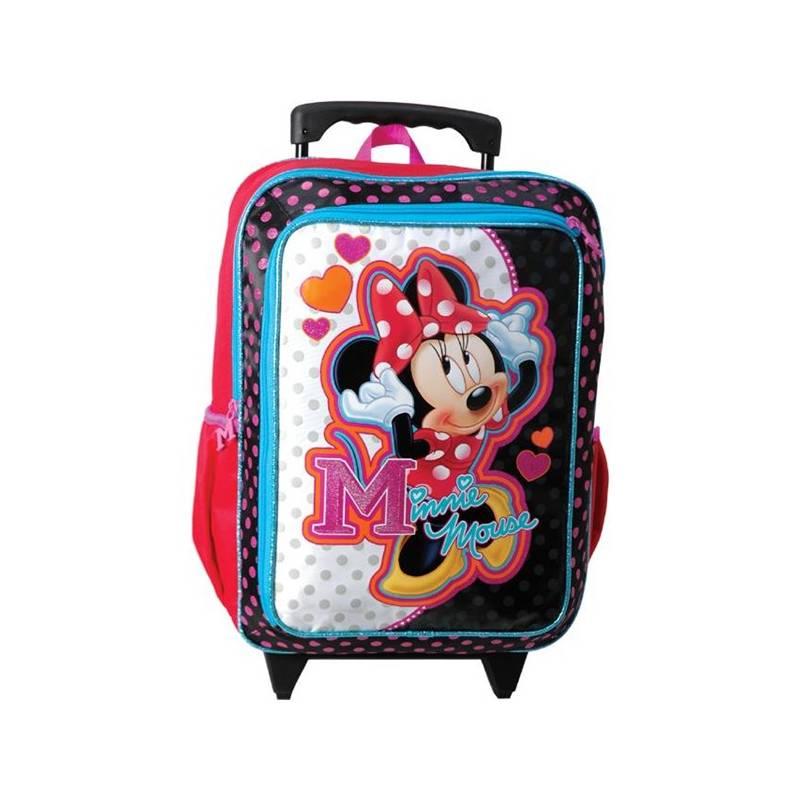 Batoh dětský Sun Ce na kolečkách Disney Minnie černý růžový  3929c4674e