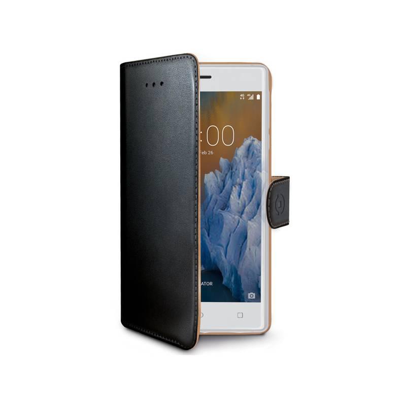Puzdro na mobil flipové Celly Wally pro Nokia 3 (WALLY660) čierne