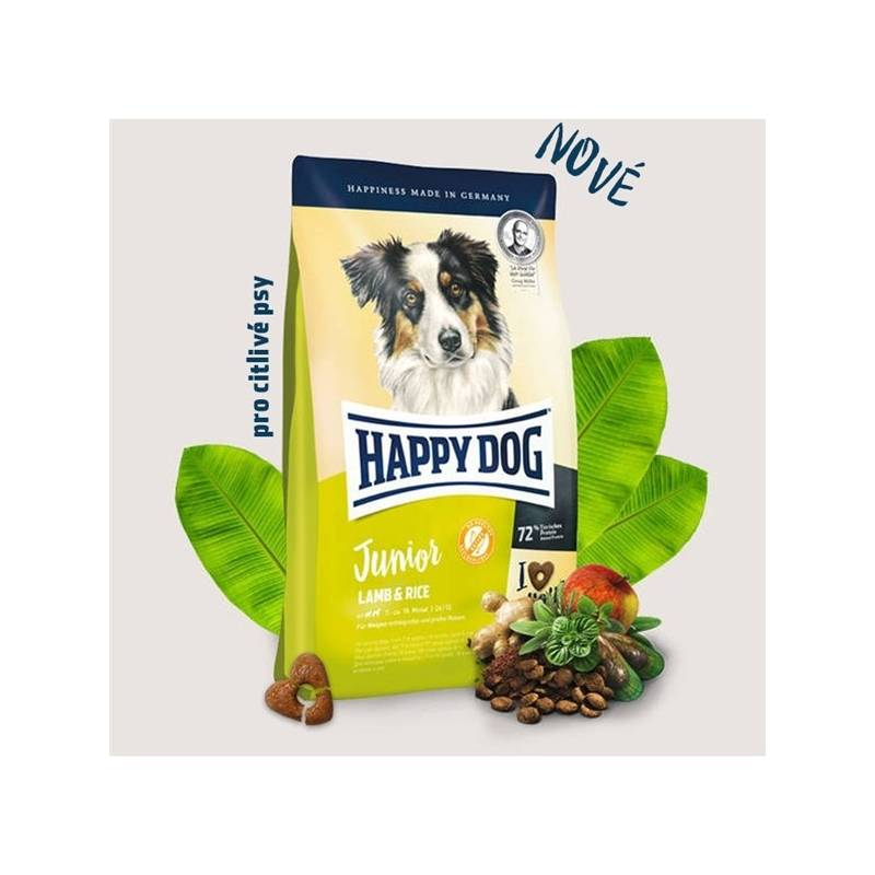 Granule HAPPY DOG Junior Lamb & Rice 4 kg