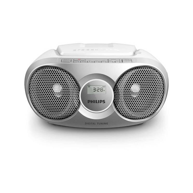 Rádioprijímač s CD Philips AZ215S strieborný