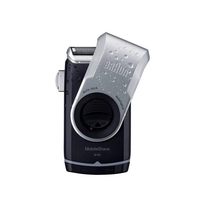 Holiaci strojček Braun battery M 90 čierny/strieborný
