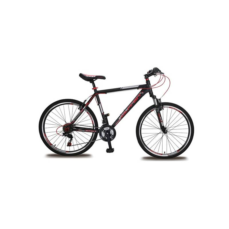 "Horský bicykel Olpran Challenger 26"" čierne/červené + Doprava zadarmo"