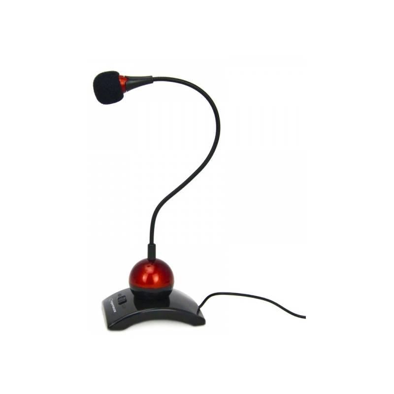 Mikrofón Esperanza EH130 CHAT (EH130 - 5905784769035) čierny/červený