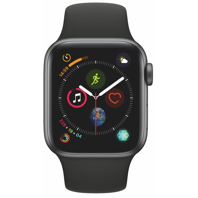 Chytré hodinky Apple Watch Series 4 Watch Series 4 GPS 40mm pouzdro z vesmírně šedého hliníku - černý sportovní řemínek (MU662HC/A) + Doprava zadarmo