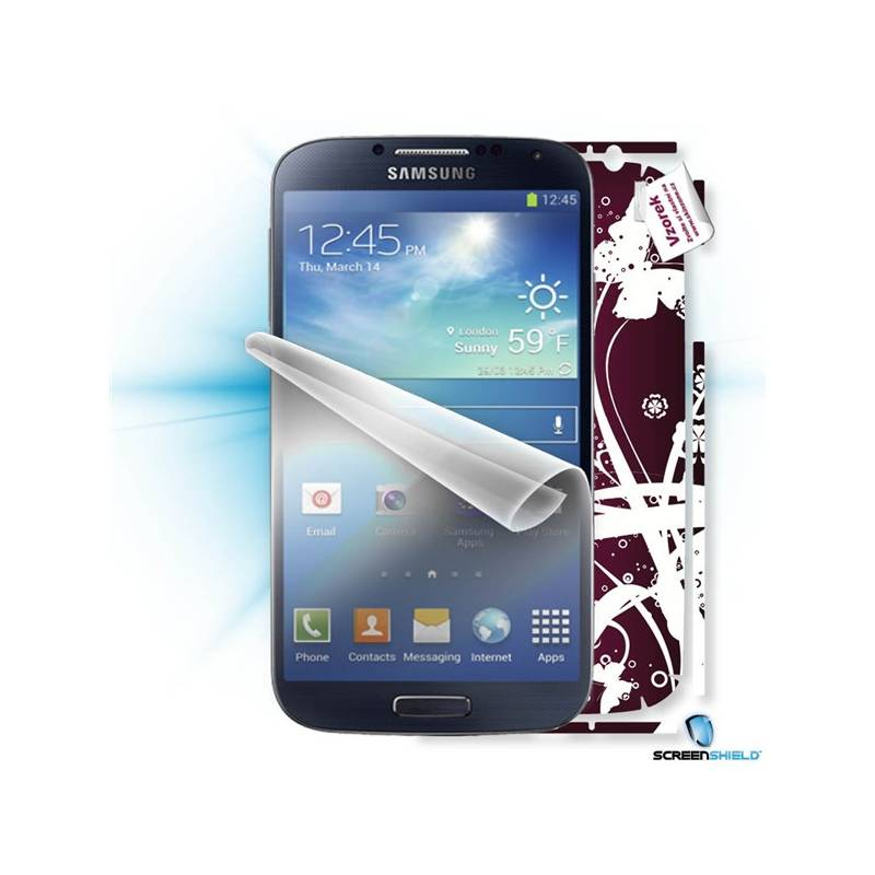 Ochranná fólia Samsung ScreenShield fólie na displej + skin voucher (včetně poplatku za dopravu k zákazníkovi) pro Samsung Galaxy S4 (i9505) (SAM-i9505-ST)
