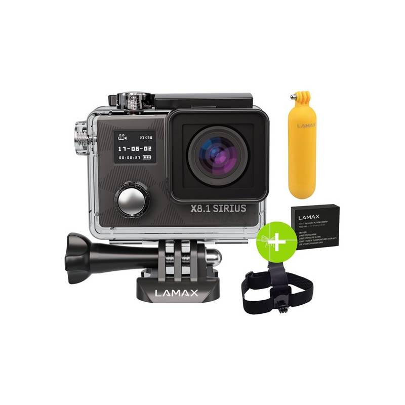 Outdoorová kamera LAMAX X8.1 Sirius + dárek, čierna