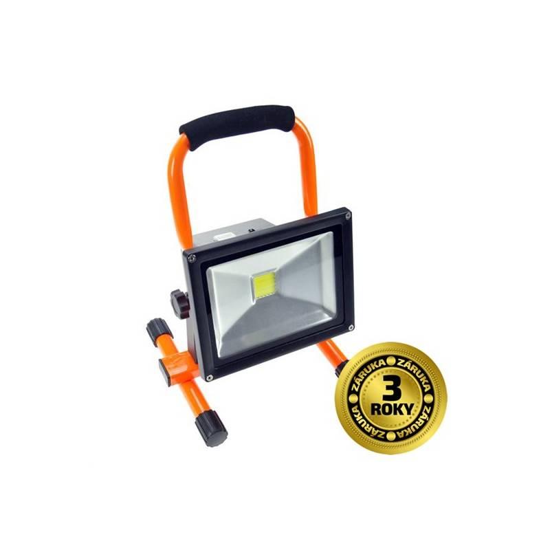 LED reflektor Solight 20W, studená bílá, nabíjecí, 1600lm (WM-20W-D) černý/oranžový